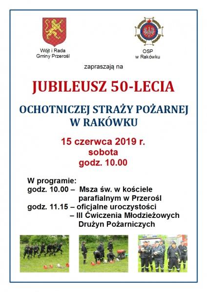 Jubileusz 50 - lecia OSP w Rakówku