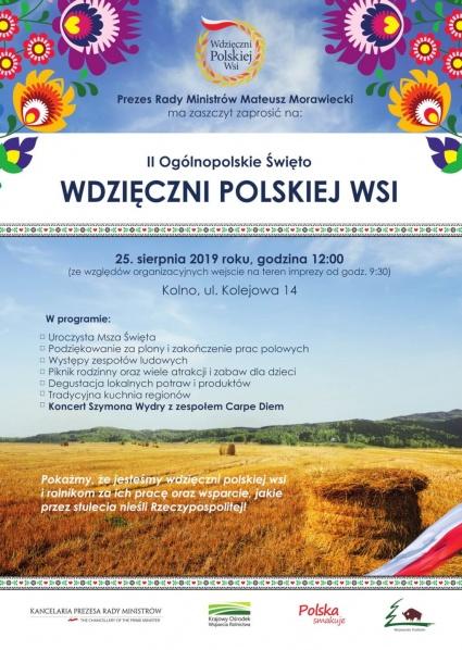 """II Ogólnopolskie Święto """"Wdzięczni Polskiej Wsi"""""""