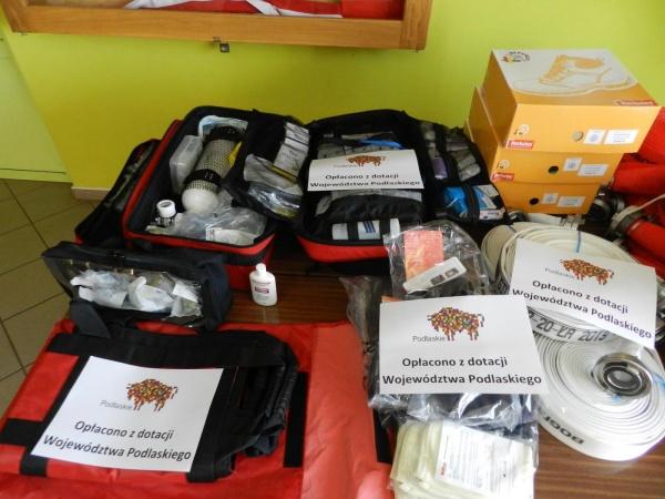 Pomoc Finansowa Województwa Podlaskiego przeznaczona na zakup sprzętu ratowniczo – gaśniczego i umundurowania dla jednostek Ochotniczych Straży Pożarnych z terenu Gminy Przerośl