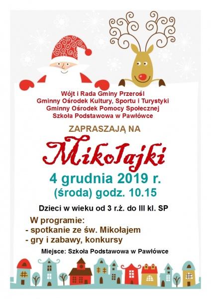 Mikołajki w Szkole Podstawowej w Pawłówce