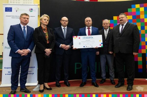Dofinansowanie w wysokości 1 073 853,00 zł na realizację projektów z zakresu gospodarki wodno-ściekowej z Programu Rozwoju Obszarów Wiejskich