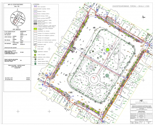 Przebudowa nawierzchni utwardzonych ciągów pieszych, montażu elementów małej architektury z nasadzeniami roślinności zlokalizowanych przy ul. Rynek