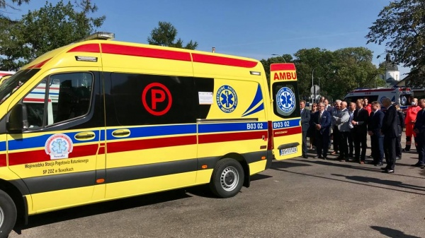 Wójt Gminy Przerośl oraz Rada Gminy wsparła finansowo Pogotowie Ratunkowe w Suwałkach